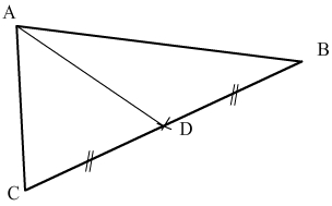 point de rencontre des medianes dans un triangle