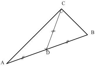 mediane d'un triangle rectangle