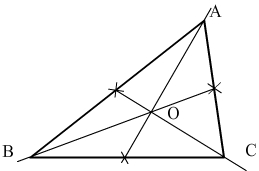 medianes d'un triangle