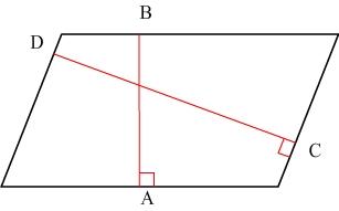 hauteur d'un parallélogramme