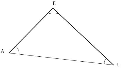 somme des angles d'un triangle