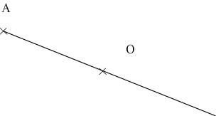 construction du symétrique d'un point - étape 1
