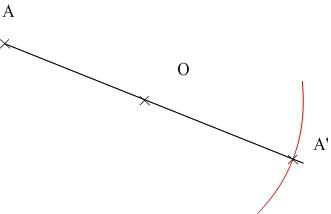 Construction du symétrique d'un point étape 2