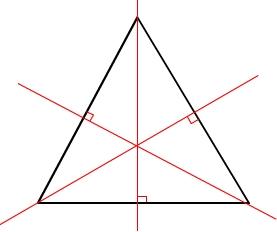 triangle équilatéral inscrit dans un cercle