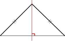 axe de symétrie d'un triangle équilatéral