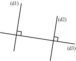 droites perpendiculaires à une même troisième